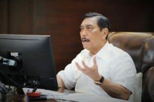 Menko Luhut Pimpin Video Conference Rapat Koordinasi Pengembangan Wilayah dan Percepatan Pembangunan Infrastruktur di Prov Jawa Timur