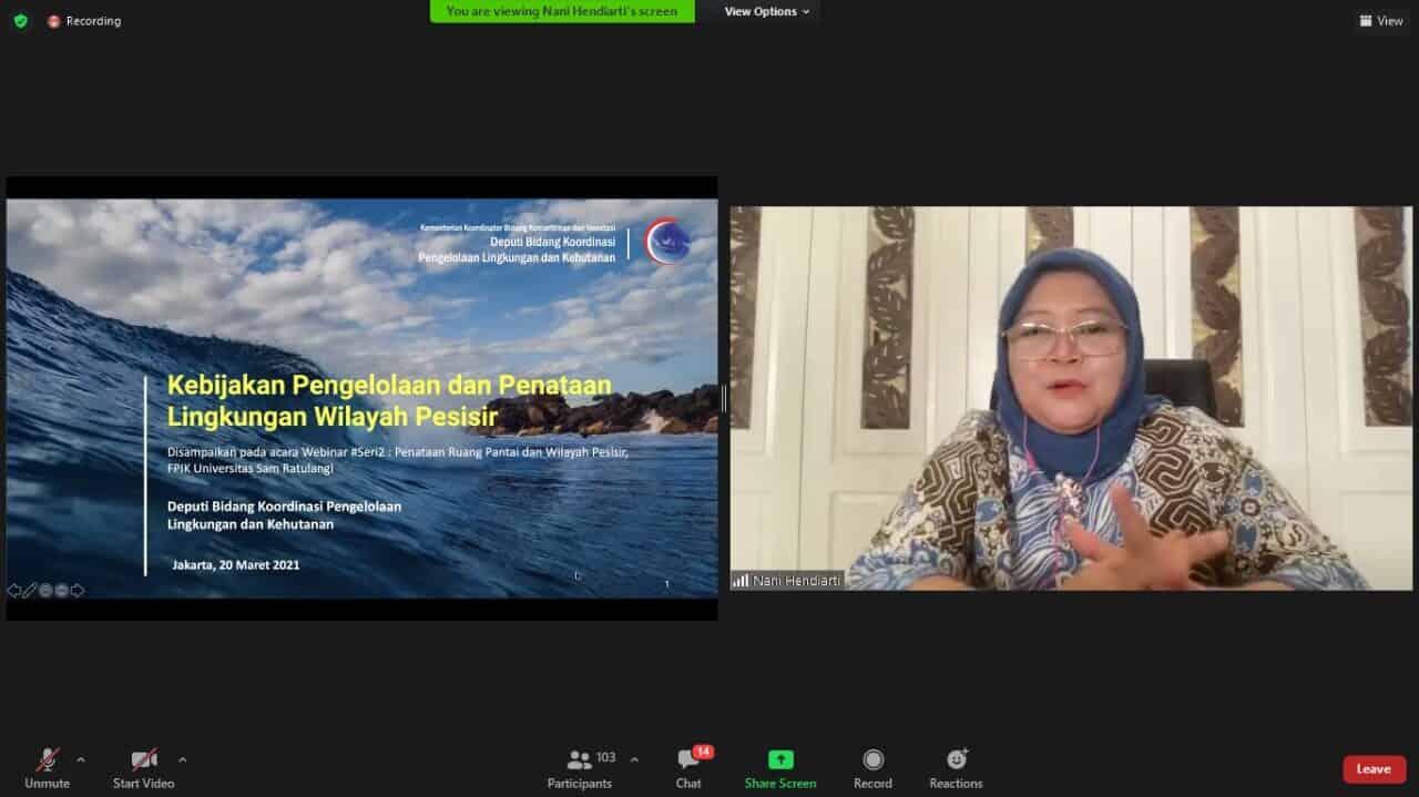 """Bahas Penataan Ruang Laut dan Wilayah Pesisir, Deputi Nani: """"Integrasi Tiap Pihak Mampu Pulihkan Lingkungan Maupun Ekonomi Masyarakat Wilayah Pesisir"""""""