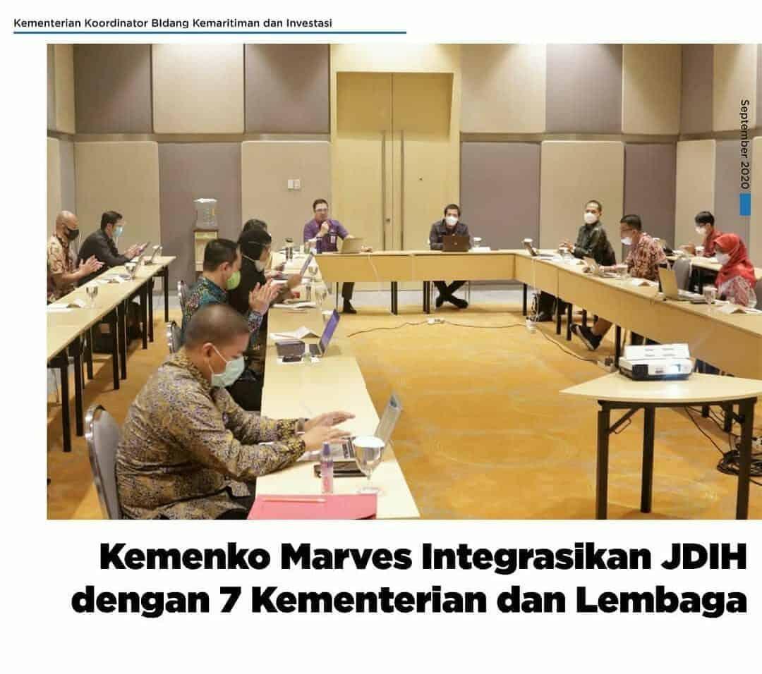 Kemenko Marves Intergrasikan JDIH dengan 7 Kementerian dan Lembaga