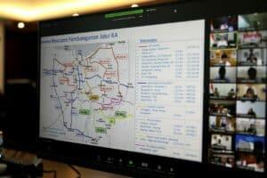 Menko Luhut Vidcon Rakor Pengembangan Wilayah dan Percepatan Pembangunan Infrastruktur di Provinsi DKI Jakarta