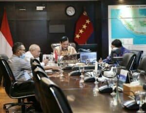 Menko Luhut Vcon Rakor Stimulus BBI 2021 untuk Sektor Pariwisata dan Ekonomi