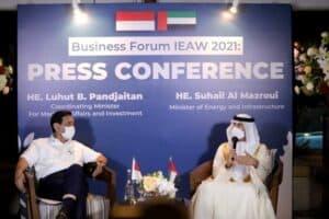Press Conference Menko Luhut bersama Mr. Suhail Al Mazroui