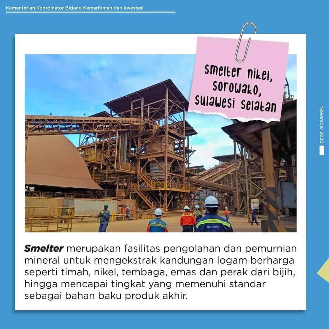 Smelter nikel, Sorowako, Sulawesi Selatan
