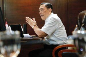 Menko Luhut Vidcon Rakor Pembahasan Limbah Timah Bangka Belitung