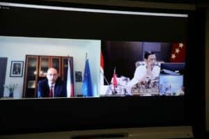 Menko Luhut Vidcon Meeting dengan Dubes Ceko