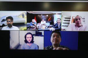 Menko Luhut Vidcon Meeting dengan Tesla