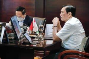 Menko Luhut Meeting dengan Wamen II BUMN + Dirut KCIC soal Progres kereta Cepat Jakarta – Bandung