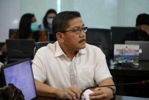 Menko Luhut Vidcon Rakor Kesiapan Ekspor di Kabupaten Biak Numfor di Kantor Maritim