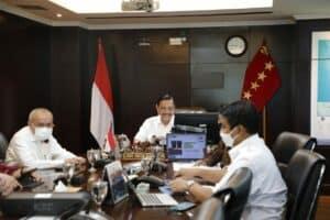Pimpin Rakor dengan Maluku Utara, Menko Luhut Tegaskan Pentingnya Dampak Kesejahteraan dalam Pembangunan Infrastruktur Wilayah